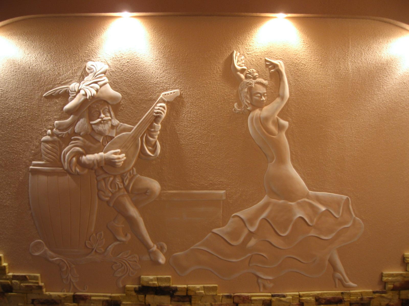 Изготовление барельефа из гипса