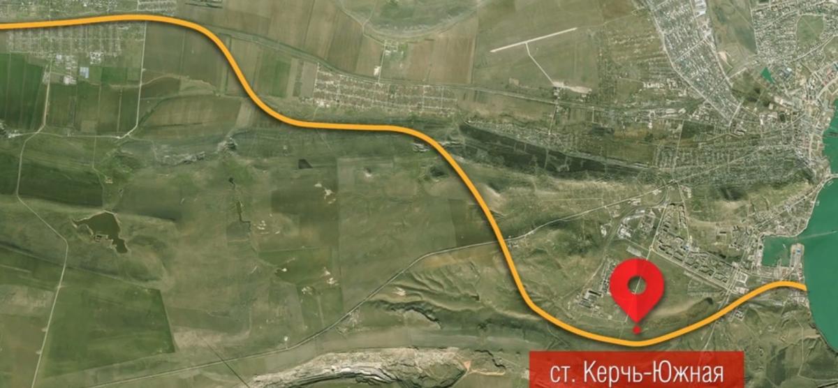Схема прокладки железнодорожного тоннеля Керчь-Феодосия