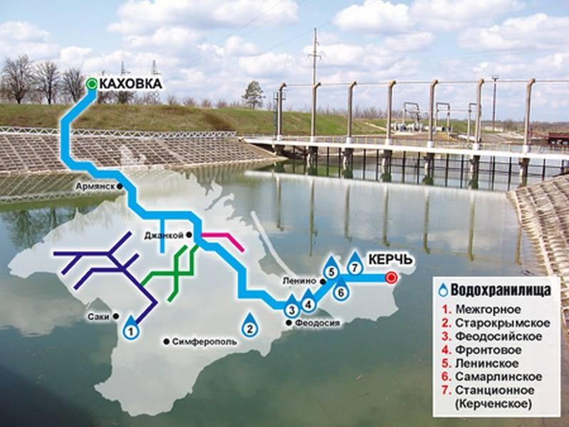 Схема водоснабжения Крыма