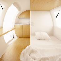 экодом с ветряком и солнечными батареями позволяет жить в любом месте