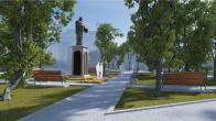 проект реконструкции сквера Сергея Радонежского в Симферополе